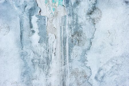 Blue and white background of the concrete wall texture. Imagens