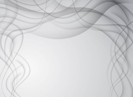 Gray curves on abstract background. Vector illustration.