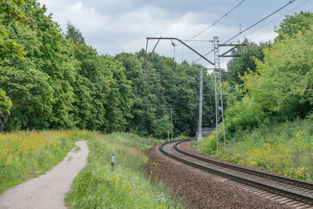 Railway by the forest.
