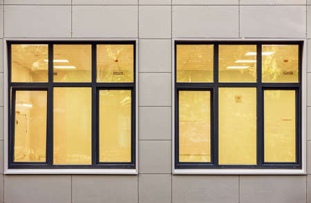 Windows of the new apartment house.