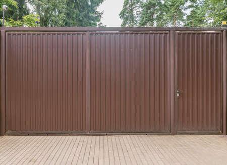 Metallic new gate. 免版税图像