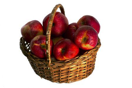 wattled: apples in a wattled basket