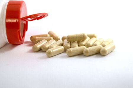 vitamins - a food additive for health Stock Photo