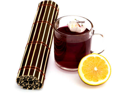 english ethnicity: glass with grass drinks of red color