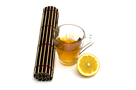 yellow to drink: glass of yellow drink, treatment by herbs