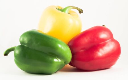 paprica: Peppers on a white background