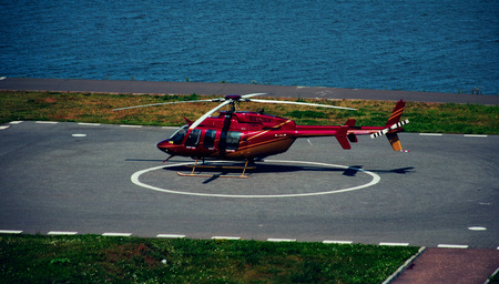 Red helicopter, Air Vehicle, Airplane, Circle, Flying, Helicopter
