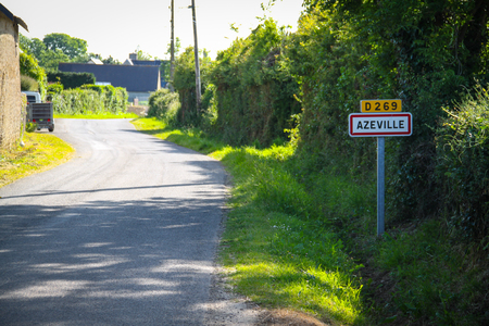Azeville, road sign of the city