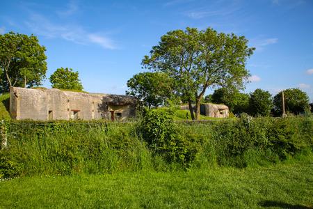 Azeville battery bunker. Normadia, France. German defensive location in the Second World War Redactioneel