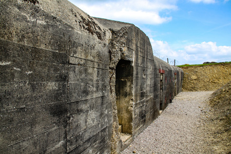 Normandy, France; 4 June 2014: Azeville battery. Placement of German batteries during the Second World War in Normandy, France.