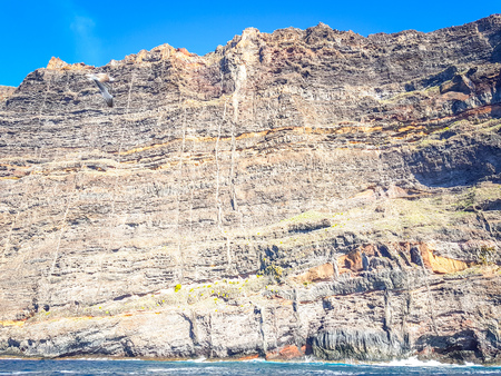 Landscape of Los Gigantes Cliffs, Tenerife, Canary islands, Spain