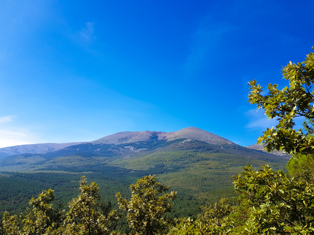 View of Mount Moncayo from its north face. Zaragoza, Aragon, Spain