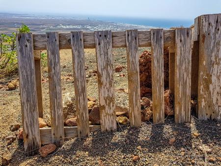 Wooden pallet making of separation fence in the earth field Reklamní fotografie