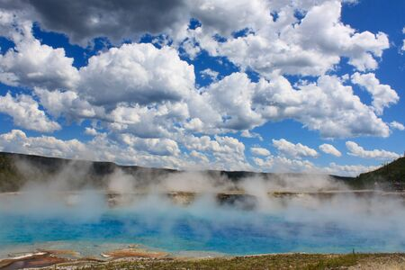 Grand Prismatic Spring. Yellowstone National Park, USA