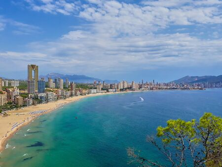 Benidorm Beach and emblematic buildings Stockfoto