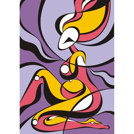 abstract paintings: Abstract Girl  Illustration