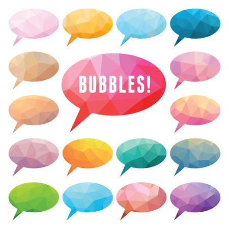 Bubbles Polygonal Imagens - 22895705