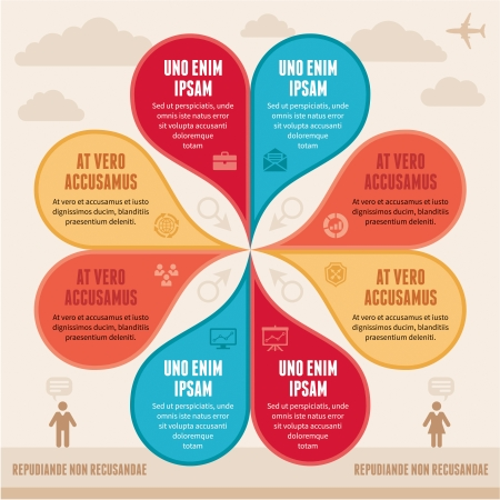 Infographic Concept - Creative Vector Scheme Vector