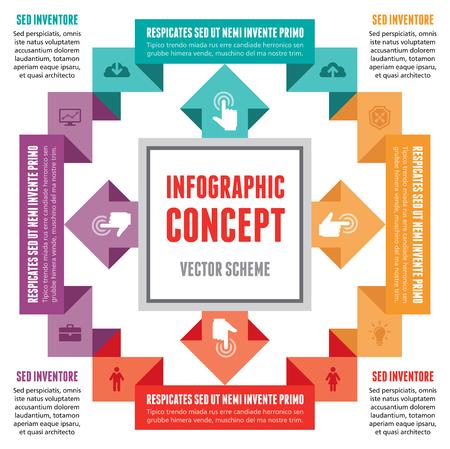 Infographic Concept - Abstract Vector Scheme