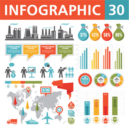 Infographics Elements 30 Иллюстрация