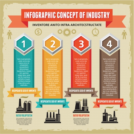Infographic Concept with Symbols of Factories Imagens - 22895739