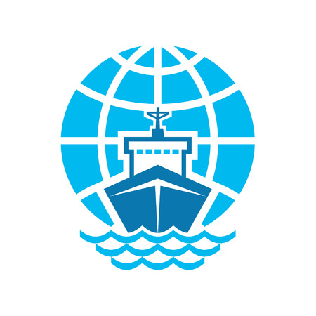 Ship   Globe Logo Sign Vector