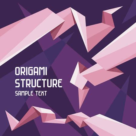 Origami Structure Concept Illustration