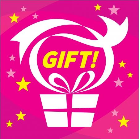 Gift - Present - Vector Illustration Concept Poster Illustration