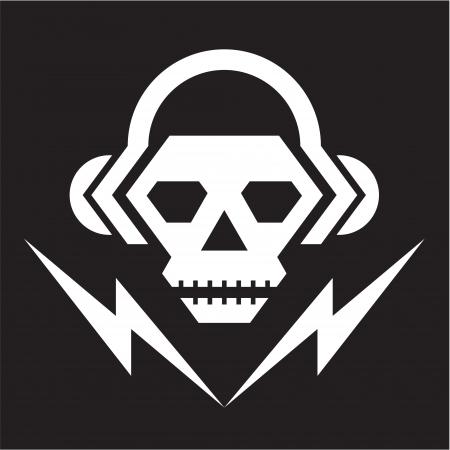 calaveras: Cr�neo Music Logo - Vector Sign 02 Vectores