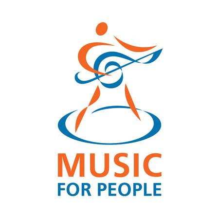 Music Logo - Vector Sign  イラスト・ベクター素材
