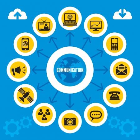 Communication Infographic Concept