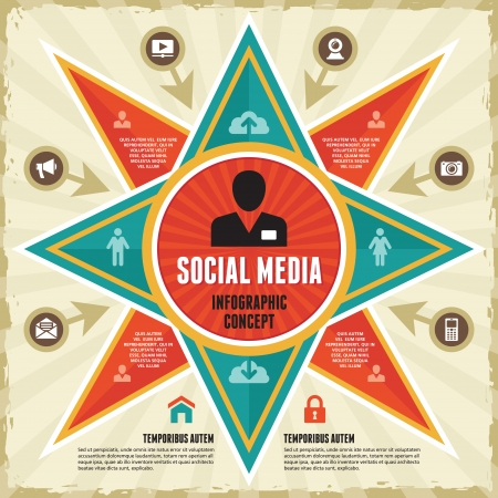 Infographic Concept of Social Media   Business Presentation Stock Vector - 23168740