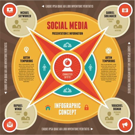 Infographic Concept of Social Media   Business Presentation Vector