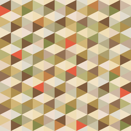 Abstract Background - Geometric Seamless Pattern in Vintage Colors Illustration
