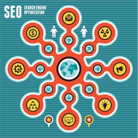 SEO Infographic Concept Illustration
