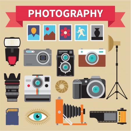 Photographie - icônes ensemble - Creative Design Images Vecteurs