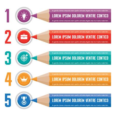 Infographic Business Concept for Presentation in Flat Design Style Ilustração