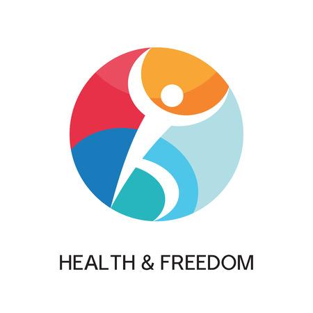 m�nner business: Mann-Logo-Zeichen f�r Sportverein, Gesundheitszentrum, Musikfestival etc Illustration