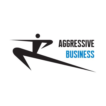 healthy exercise: Aggressive Business - vector logo sign design template