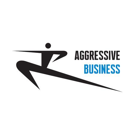 dise�os: Negocios Agresivo - vector logo signo plantilla de dise�o