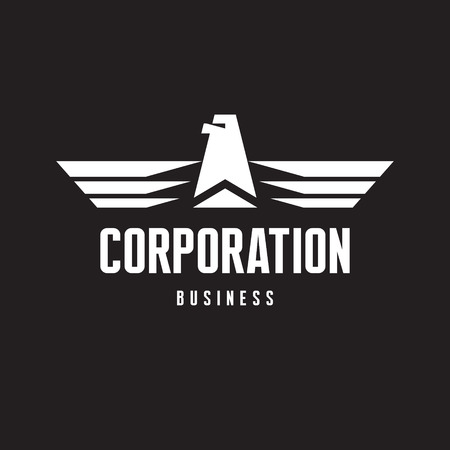 Corporation - Eagle Logo Sign in Classic Graphic Style for Business Company Stock Vector - 27443065