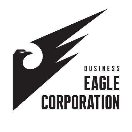 Eagle Corporation - Logo Sign in Classic Graphic Style for Business Company Vector