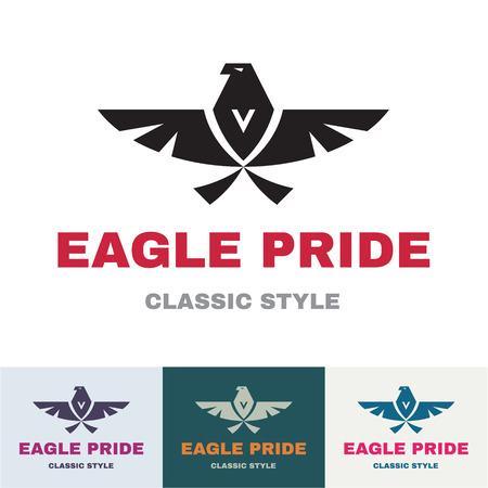 Eagle Pride - Sign in Classic Graphic Style for Business Company - vector logo design template Vector