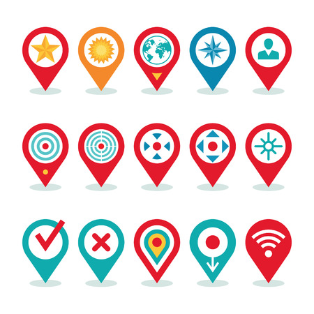 Modern World Application - Location Icons Collection Illustration