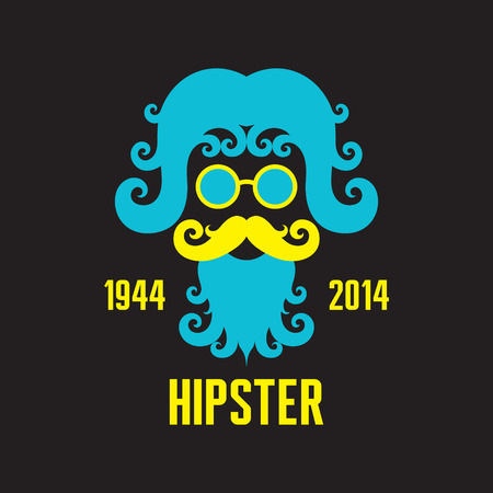 Hipster Concept Illustration - Retro Style Design