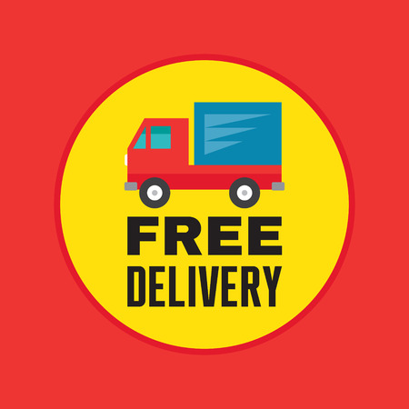 Free Delivery - Vector Icons in Flat Style Design for creative design project. Original sticker. Imagens - 34897589