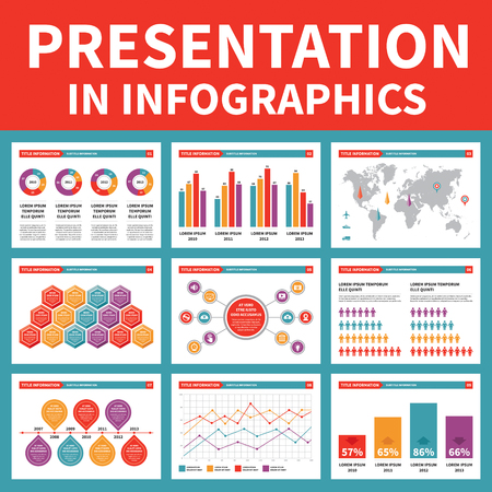 Presentation in Infographic - Vector Illustration Vector
