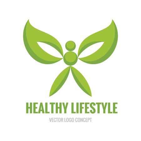 human character: Stile di vita sano - vector icon concetto illustrazione. Carattere umano. Ecologia vettoriale. Vettoriali