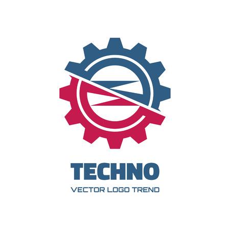 gear symbol: Techno gear - vector concept illustration.  Illustration