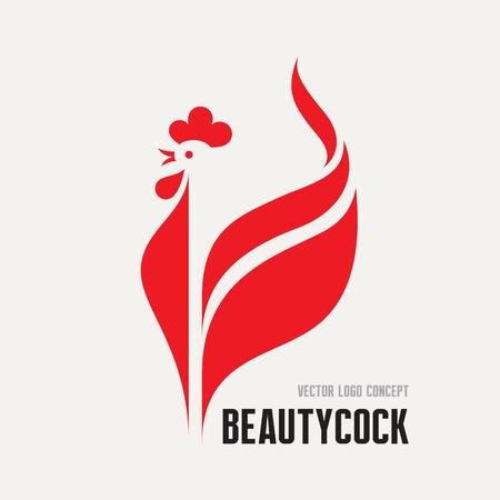 gallo: Gallo Belleza - gallo icono vector concepto. Vectores